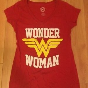 DC COMICS Juniors XL (15/17) T Shirt WONDER WOMAN